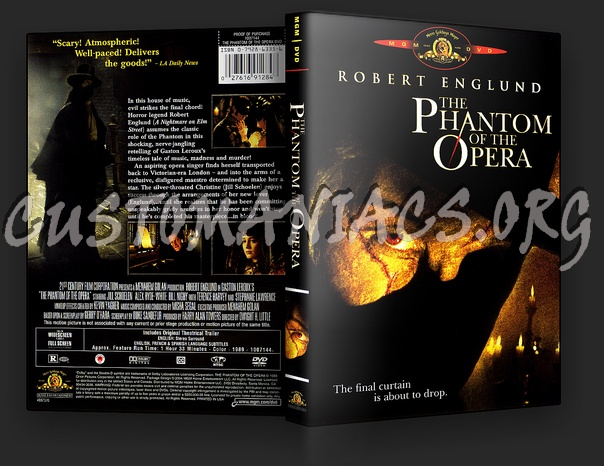 The Phantom Of The Opera dvd cover