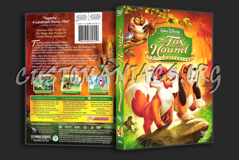 The Fox and the Hound dvd cover - DVD Covers & Labels by ...