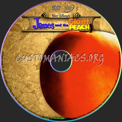 James and the Giant Peach dvd label