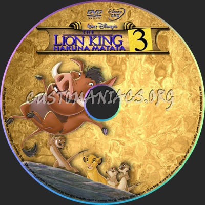The Lion King 3 dvd label