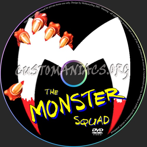 The Monster Squad dvd label