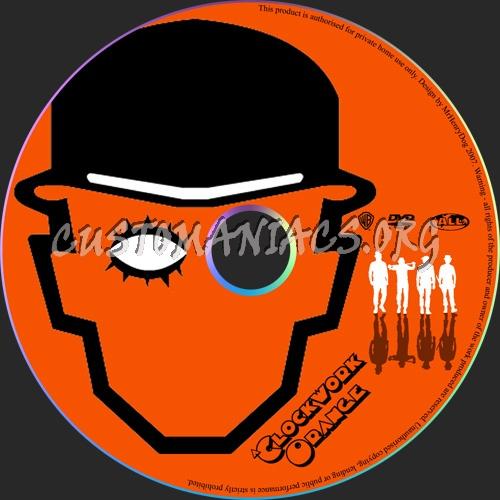 A Clockwork Orange dvd label