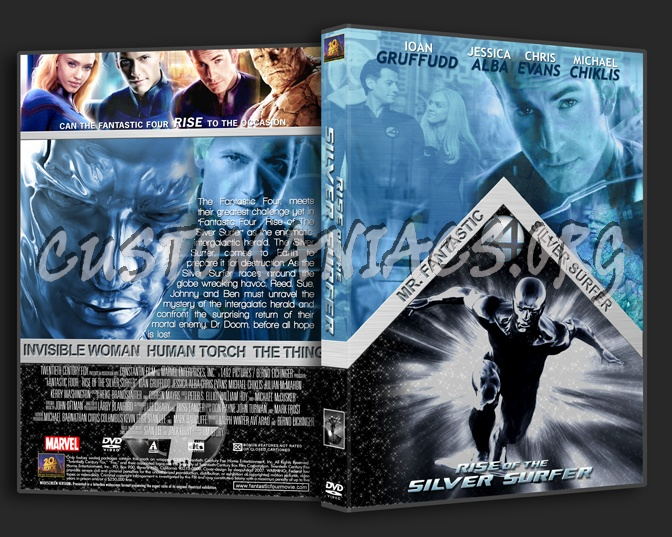 Rise of the Silver Surfer dvd cover