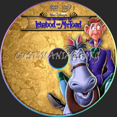 the Adventures of ichabod and mr toad dvd label