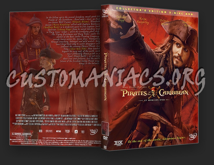Pirates Of The Caribbean 3 - At World's End dvd cover