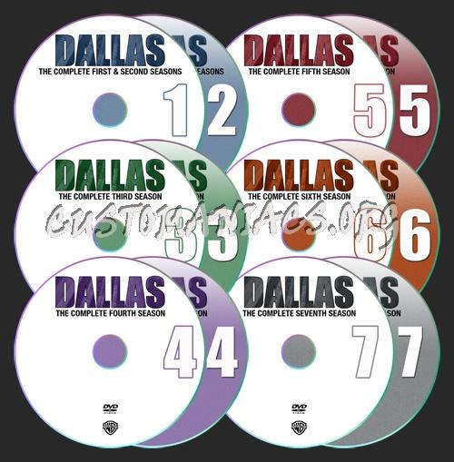 Dallas Seasons 1-7 dvd label