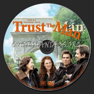 Trust The Man dvd label