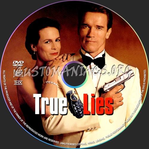 True Lies dvd label