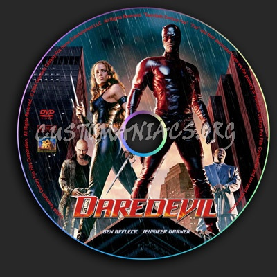 Daredevil dvd label