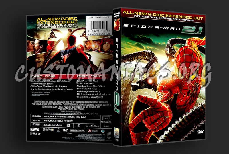 Spider-man 2.1 dvd cover
