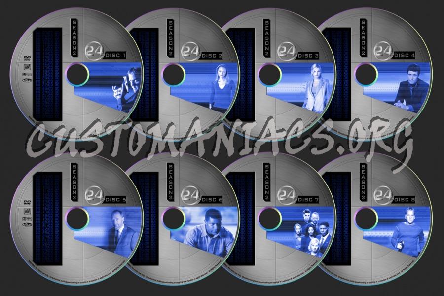 24 - Season 2 dvd label