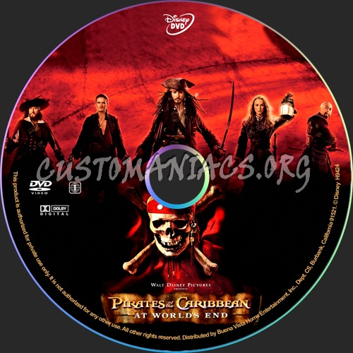 Pirates of the Caribbean At World's End dvd label