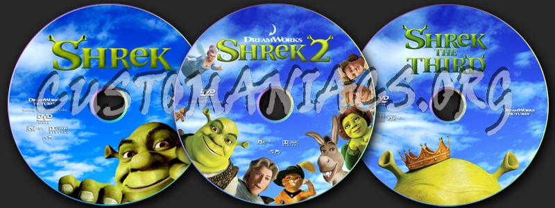 Shrek dvd label