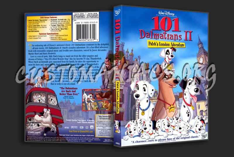 101 Dalmatians 2 - Patch's London Adventure dvd cover