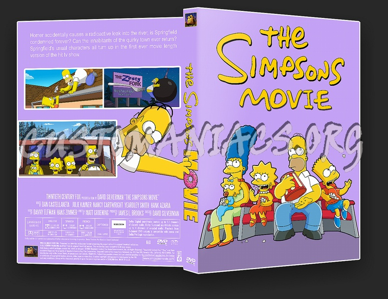 The Simpsons Movie Dvd Cover Dvd Covers Labels By Customaniacs Id 11809 Free Download Highres Dvd Cover