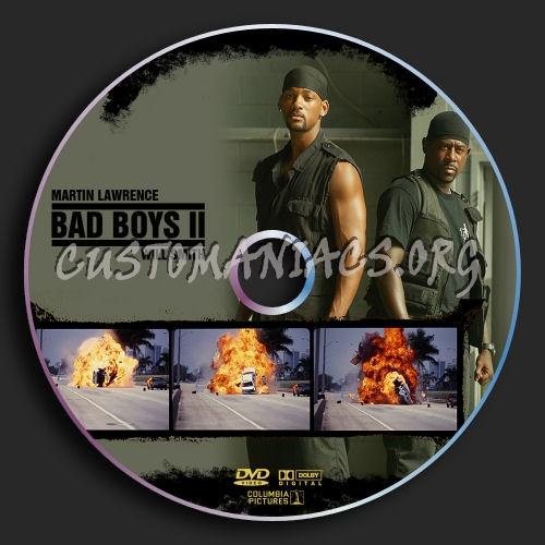 Bad Boys II dvd label
