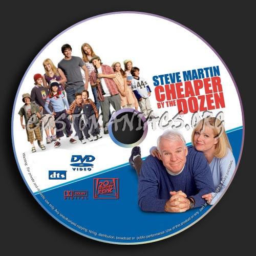 Cheaper by the Dozen dvd label