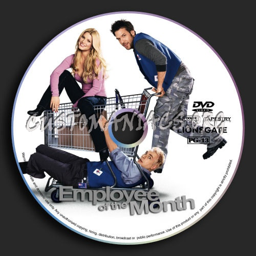 Employee of the Month dvd label