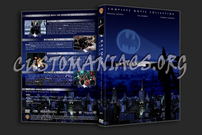 The Batman Legacy Collection dvd cover