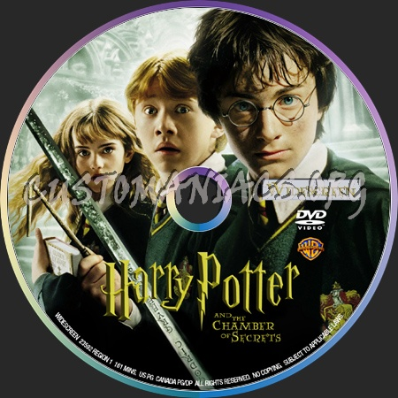 Harry Potter And The Chamber Of Secrets dvd label