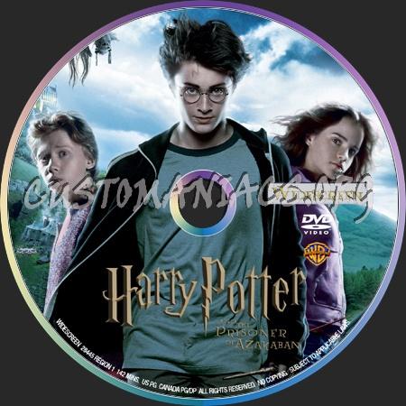 Harry Potter And The Prisoner Of Azkaban dvd label