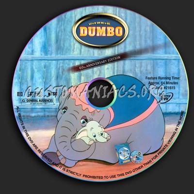 Dumbo dvd label