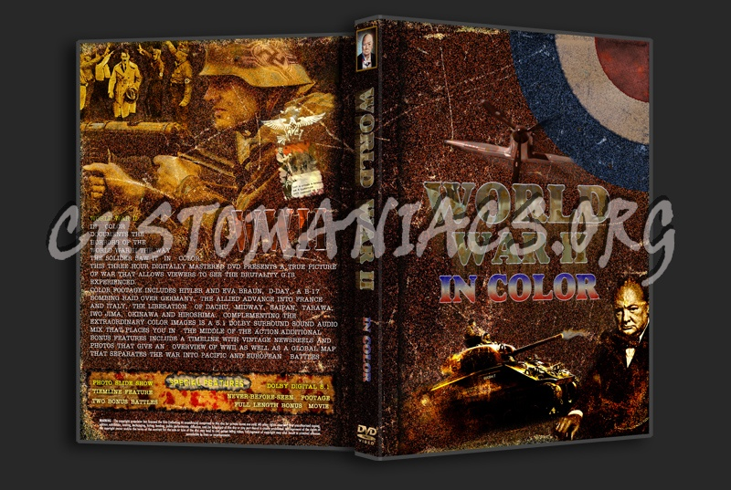 World War 2 In Color dvd cover - DVD Covers & Labels by
