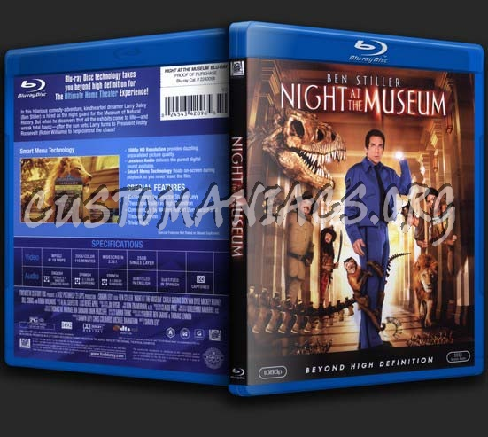 Night at the Museum blu-ray cover