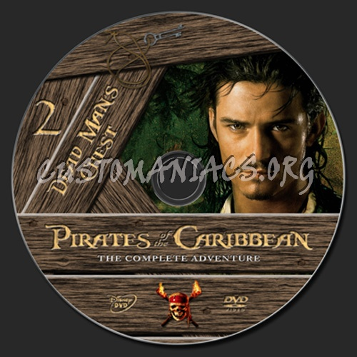 Pirates of The Caribbean: Dead Man's Chest dvd label