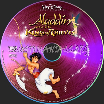 Aladdin King of Thieves dvd label
