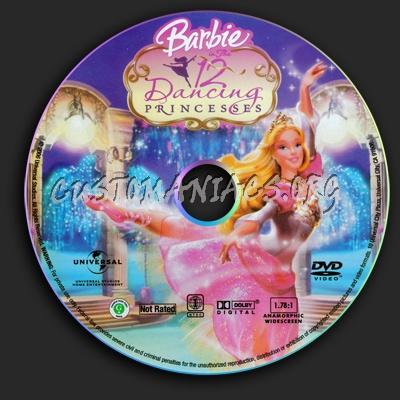 Barbie In The 12 Dancing Princesses dvd label