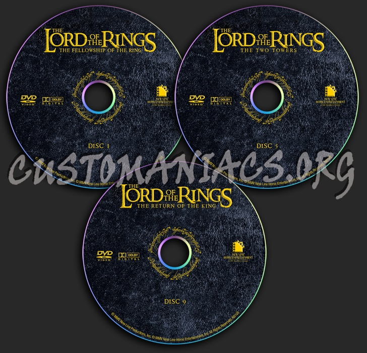 The Lord of the Rings dvd label