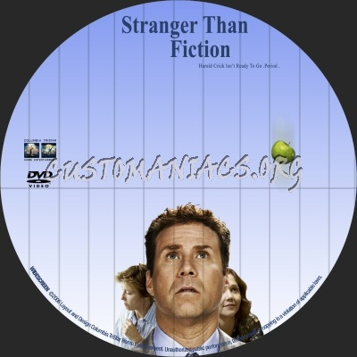 Stranger Than Fiction dvd label