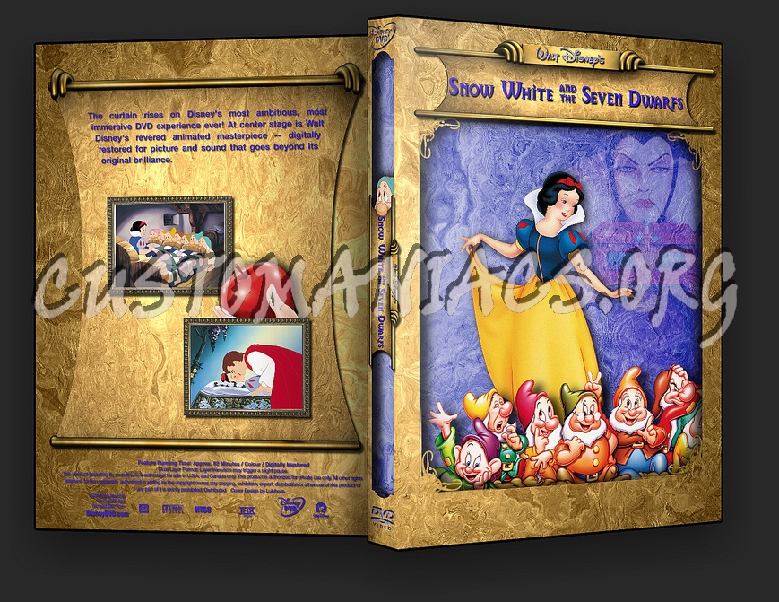 Snow White and the seven Dwarfs dvd cover