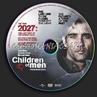 Children Of Men dvd label
