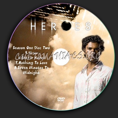 Heroes season 1 dvd label