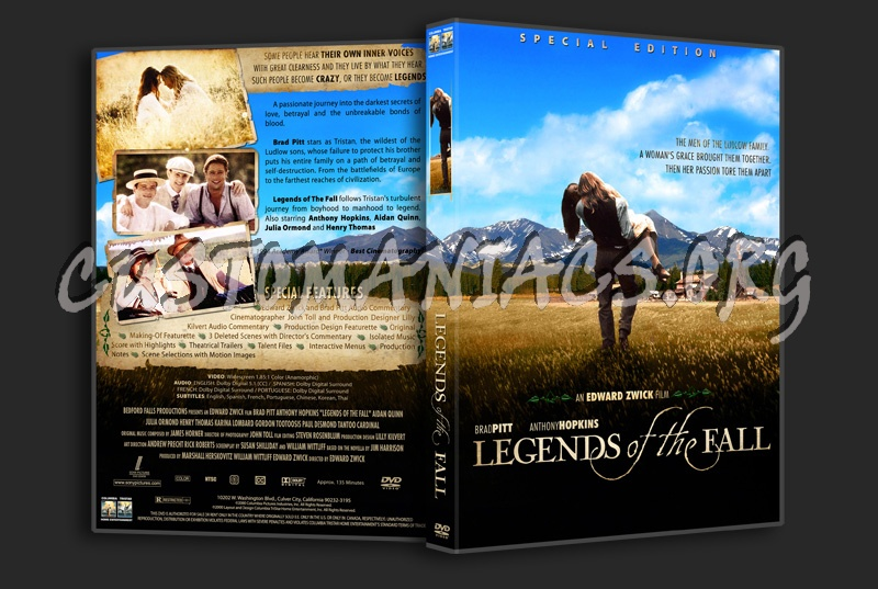 Legends Of The Fall dvd cover