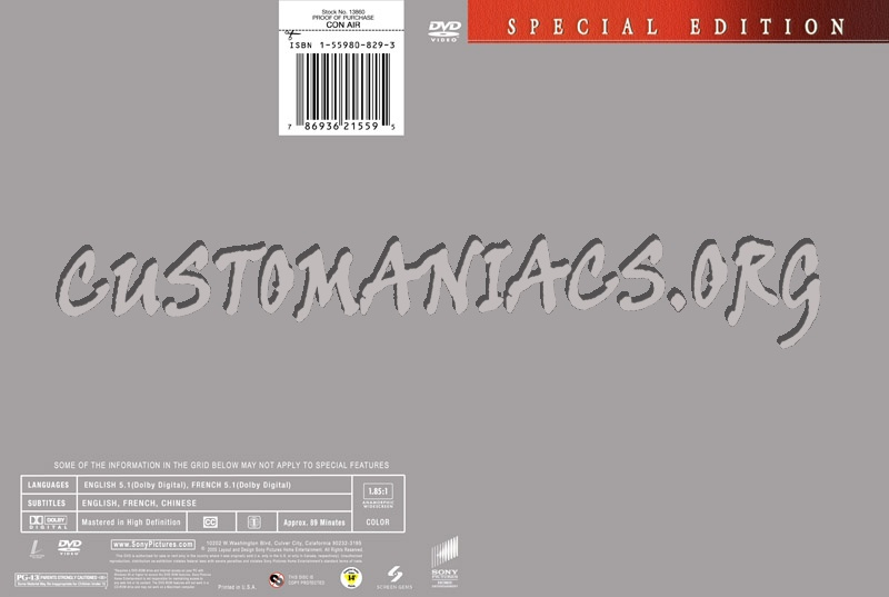 Sony Template dvd label