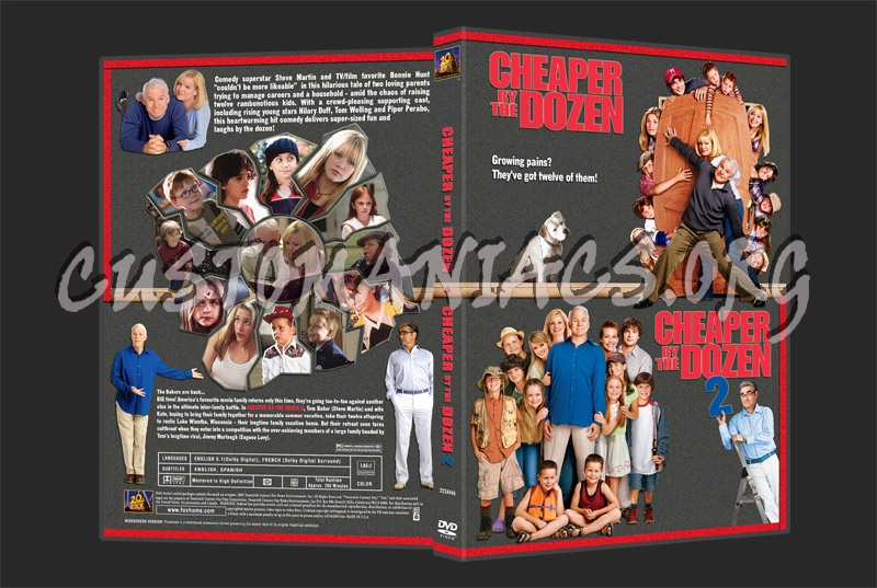 Cheaper By the Dozen dvd cover