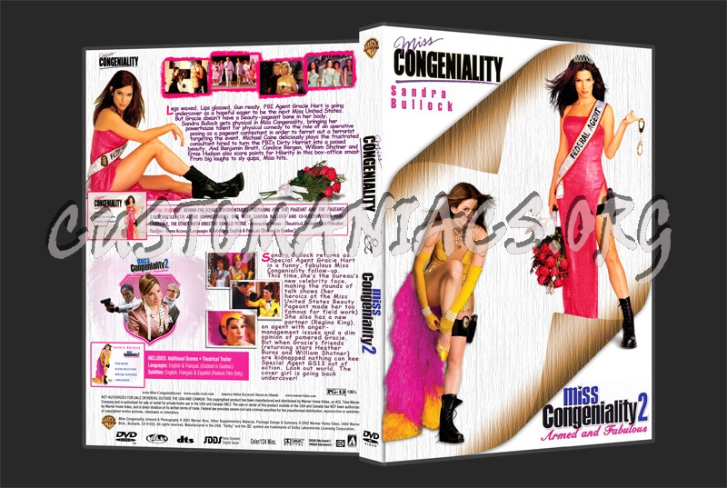 Miss Congeniality 1 & 2 dvd cover