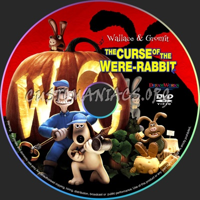 Wallace & Gromit The Curse of the Were Rabbit dvd label