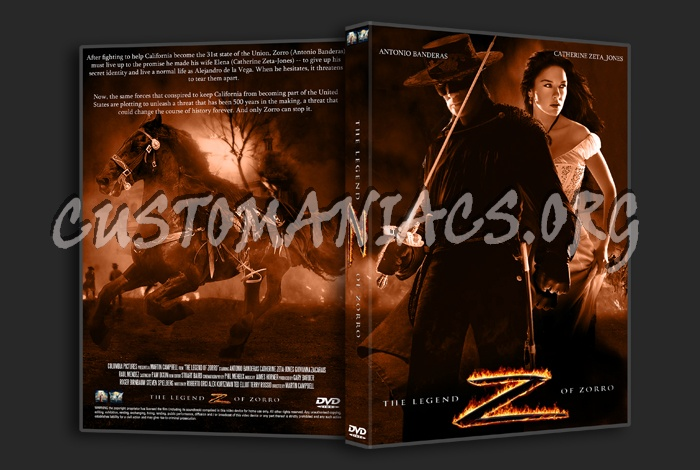 The Legend Of Zorro dvd cover
