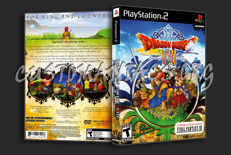 Dragon Quest VIII Journey Of The Cursed King dvd cover