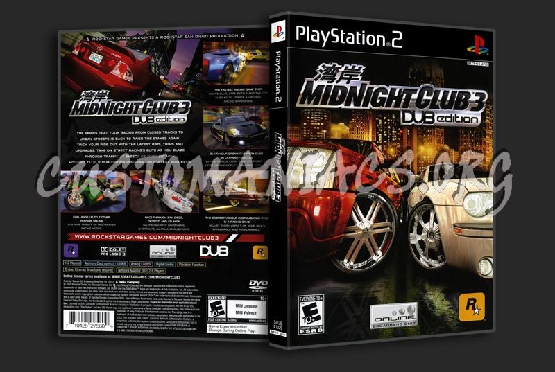Midnight Club 3 Dub Edition dvd cover