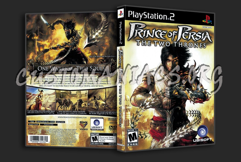 Prince Of Persia The Two Thrones dvd cover