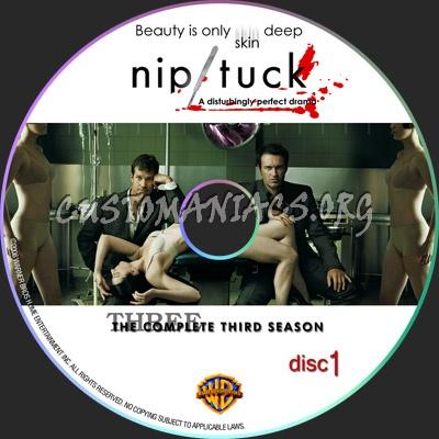 Nip Tuck S3 White dvd label
