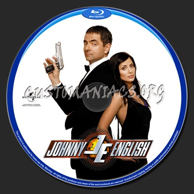 Johnny English blu-ray label