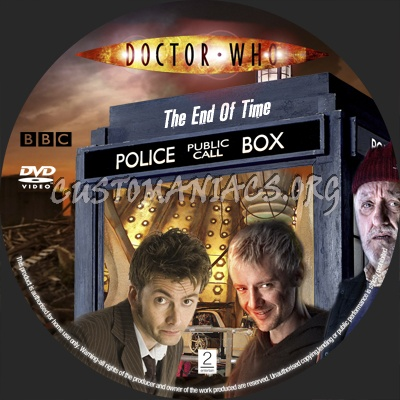 Doctor who the end of time dvd label dvd covers & labels by.