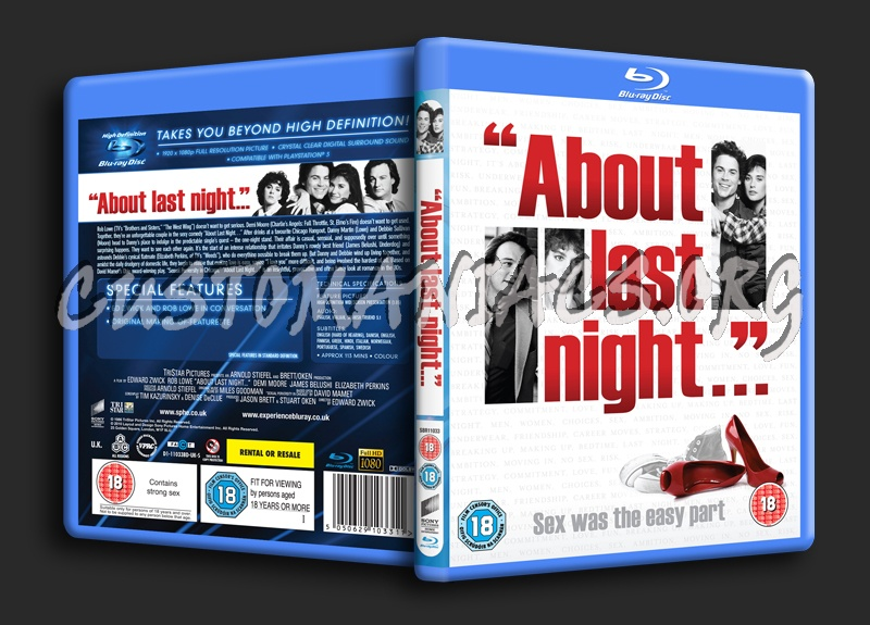 About Last Night ... blu-ray cover