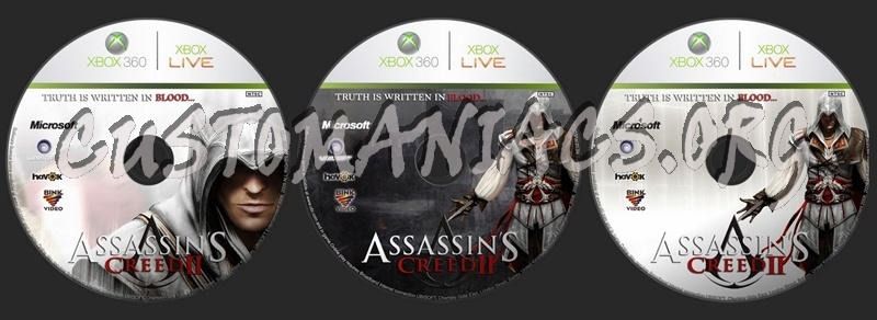 Assassin's Creed II dvd label